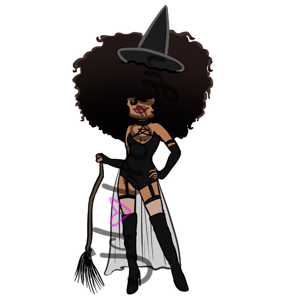 DIGITAL ITEM Big Hair dressed as witch