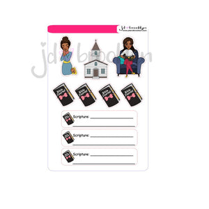 Faith based sticker dolls, bible journal stickers and prayer stickers