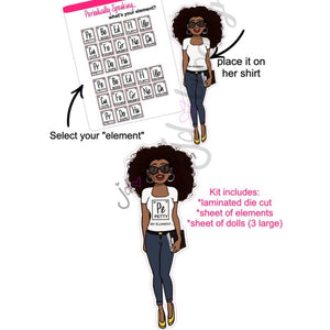 Periodically Speaking....choose your element dolls (complete kit)