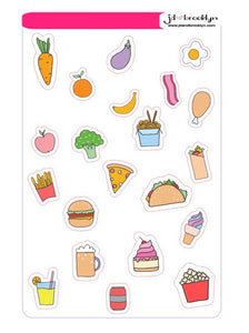 Food/Meal Planning Sticker sheet