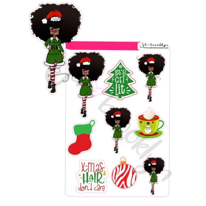 Big hair Christmas Outfit