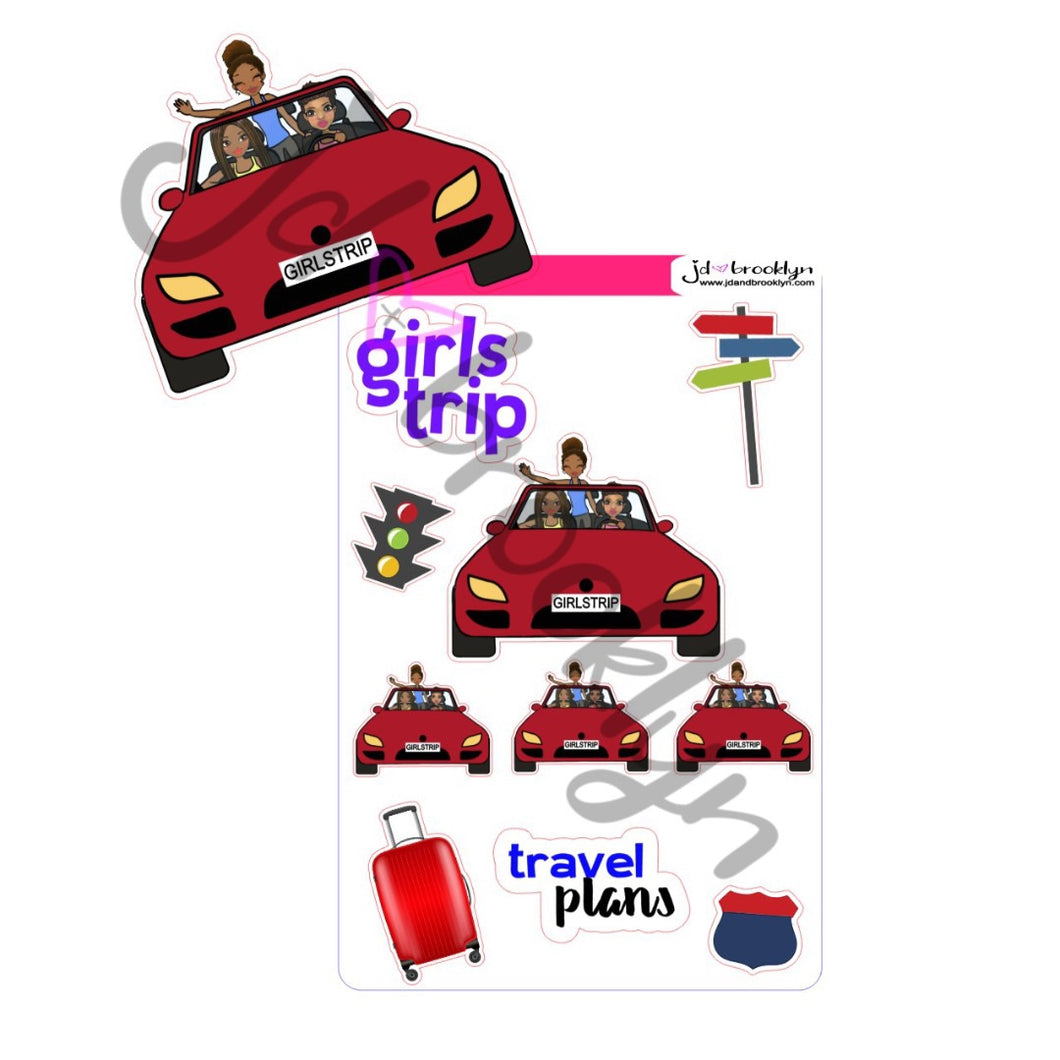 Girls trip sticker sheet or die cuts