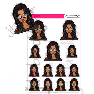 Messy Bun: letting her hair down Doll Sticker Sheet or die cuts