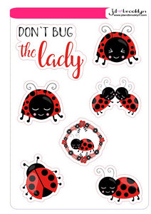 Ladybug character themed sticker sheet