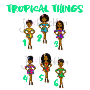 Natural Hair Tropical Things