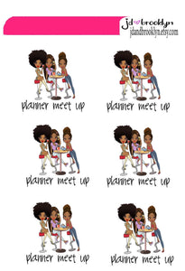 Planner meet up Doll sticker sheet or die cuts