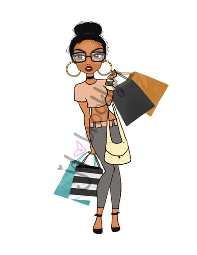 DIGITAL ITEM:  Messy Bun shopping