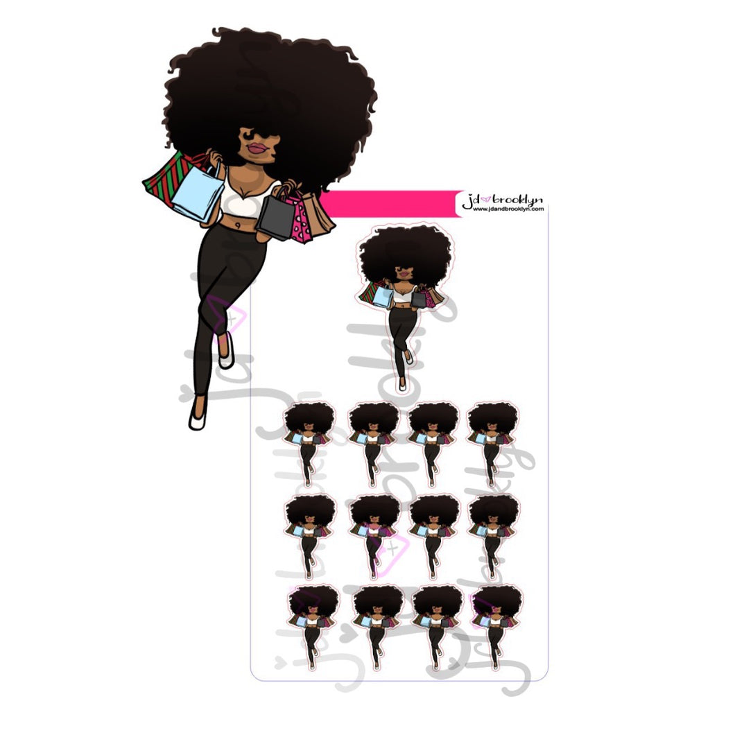 Big Hair shopping bags