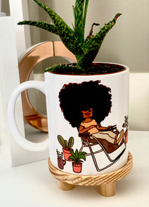 MUG-Big Hair Plant Mom