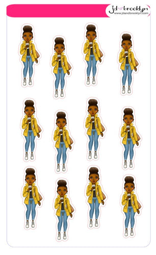Natural Hair Doll-Yellow Jacket