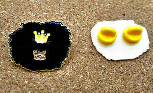 Enamel Lapel Pin Big Hair | Afro with a crown