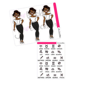 What's your sign doll sticker and die cut set Zodiac doll kit