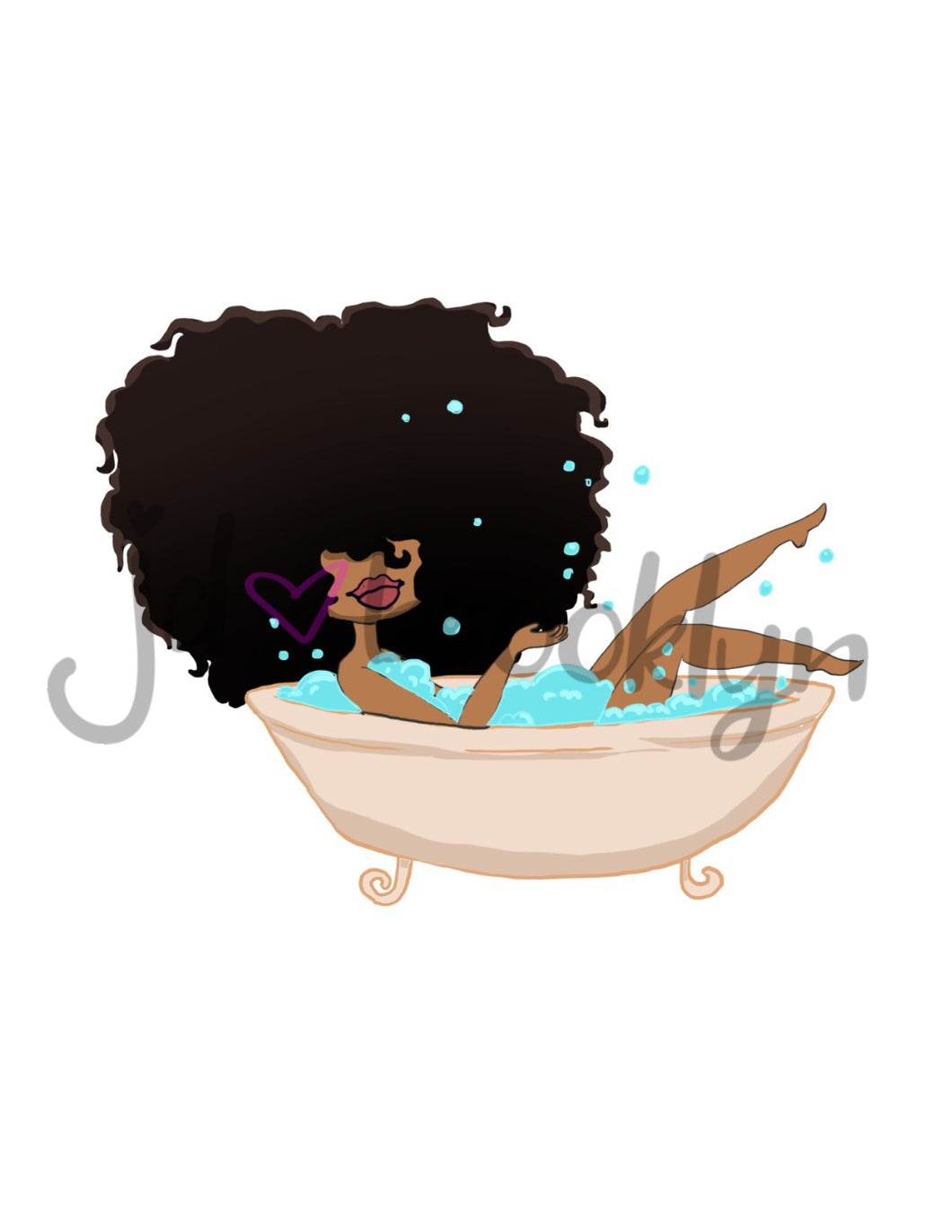 DIGITAL ITEM:  Big Hair taking a bath
