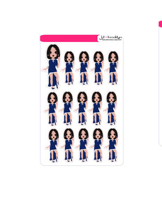 Blue dress (doll only)Sticker Sheet or die cuts