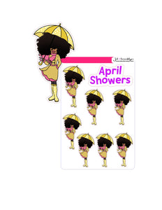 Big Hair doll April Showers doll holding umbrella
