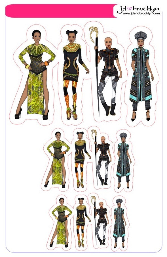 Wakanda themed doll: Sampler Sheet