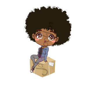 DIGITAL ITEM Chibi sitting on box