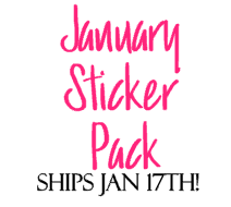 """JANUARY"" Sticker Pack"