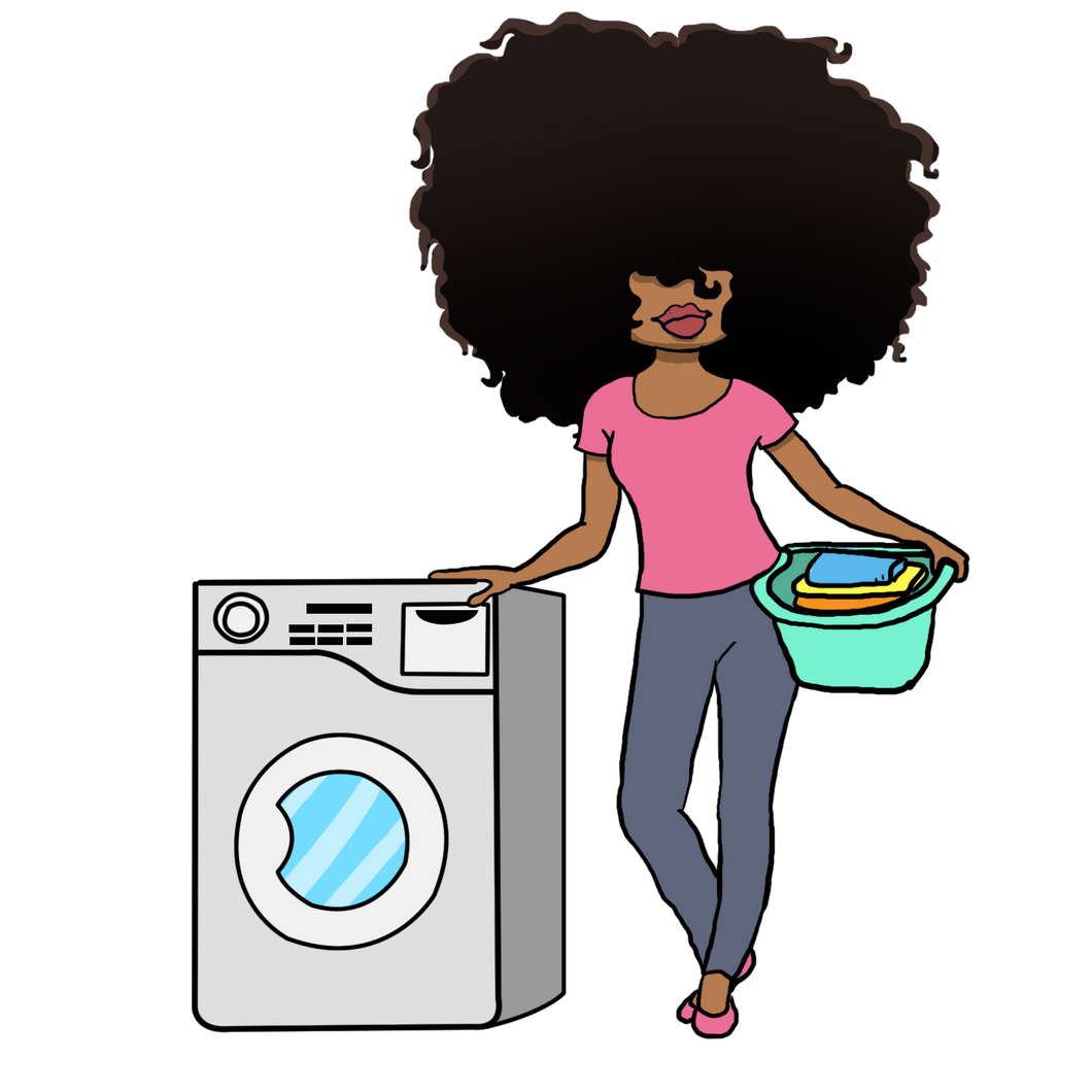 Digital Item: Big Hair doing laundry
