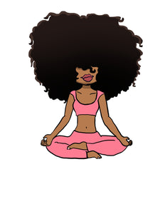 Digital Item: Big Hair yoga/meditating