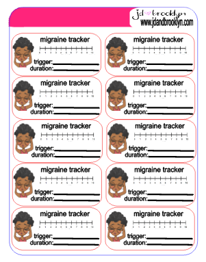 migraine tracker stickers