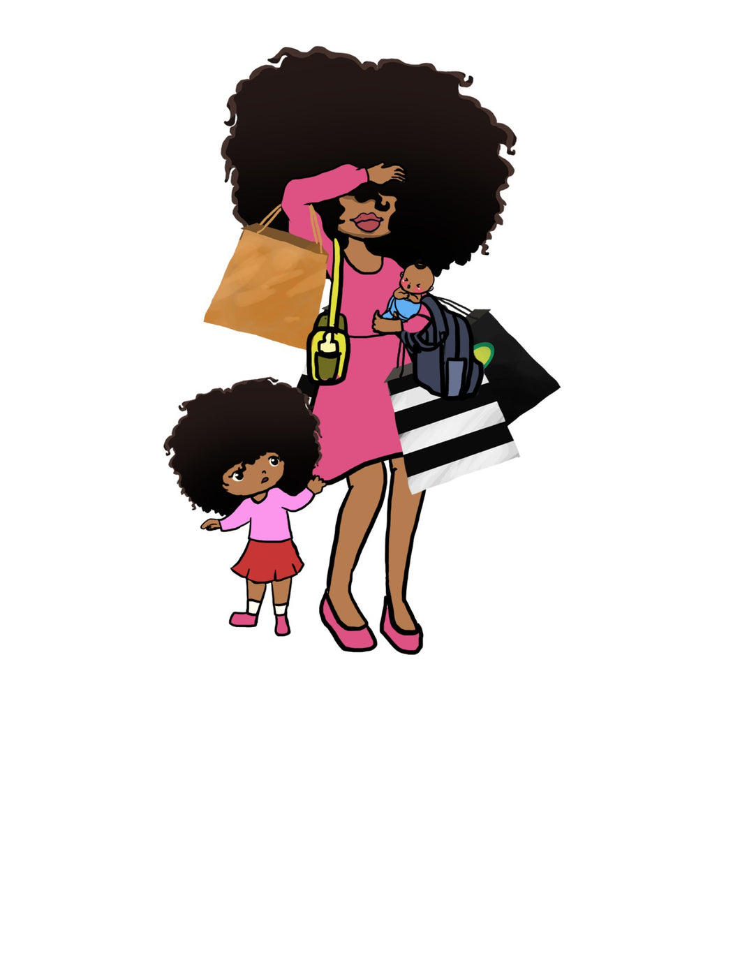 Digital Item: Big Hair mom duties
