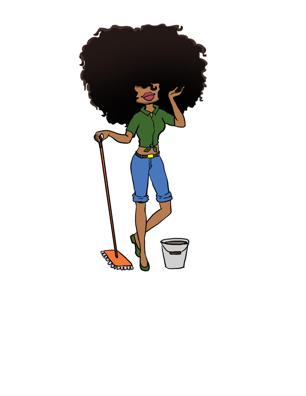 Digital Item: Big Hair cleaning