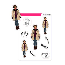 Pixie Cut hairstyle doll - Fall/Winter Fashion Sticker sheet or die cuts