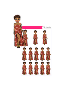 Pixie Cut hairstyle doll - Cute Summer Dress