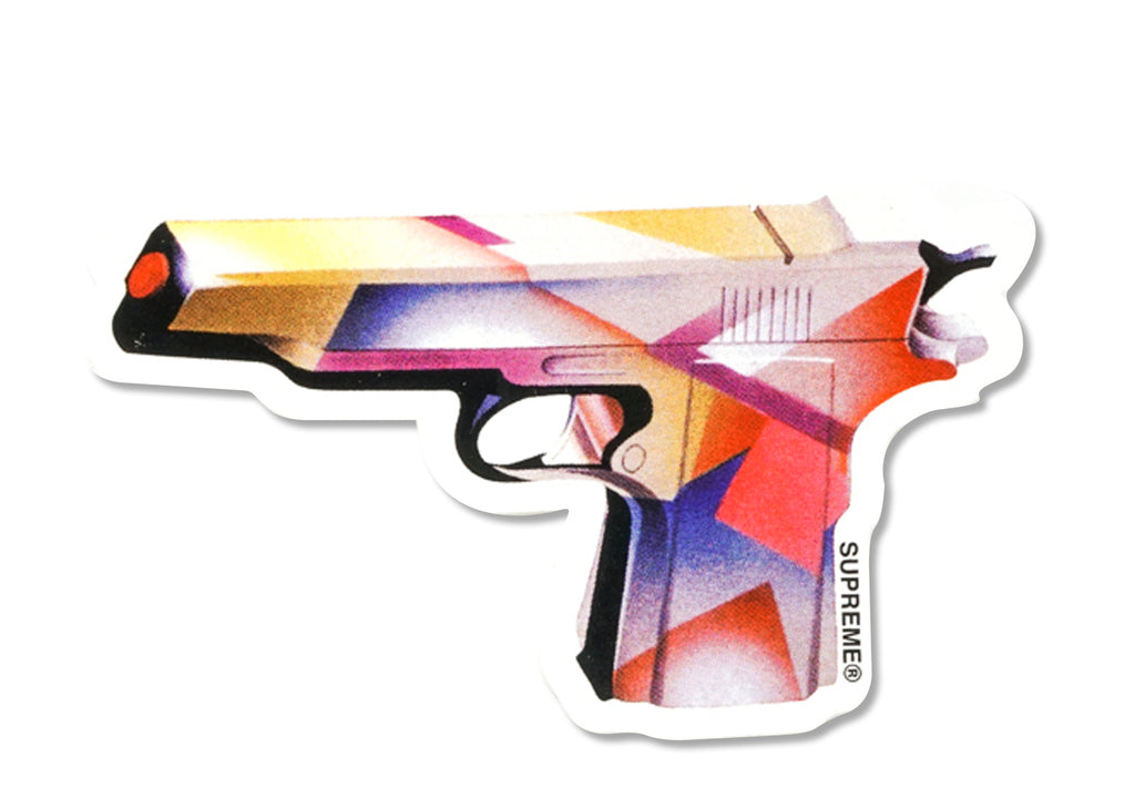 supreme gun sticker