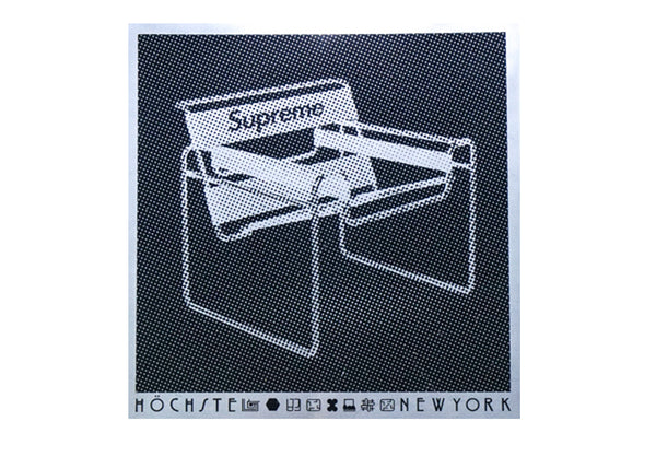 supreme chair sticker