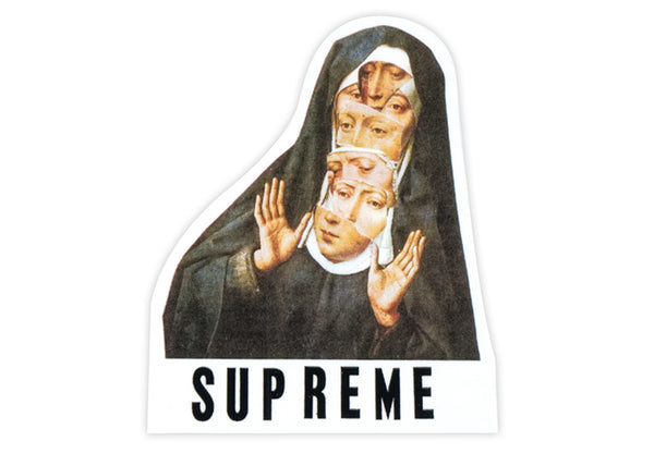 supreme virgin mary sticker
