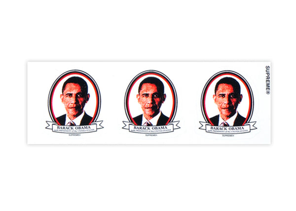 supreme obama sticker