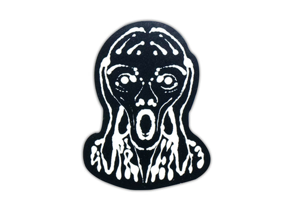 supreme scream sticker