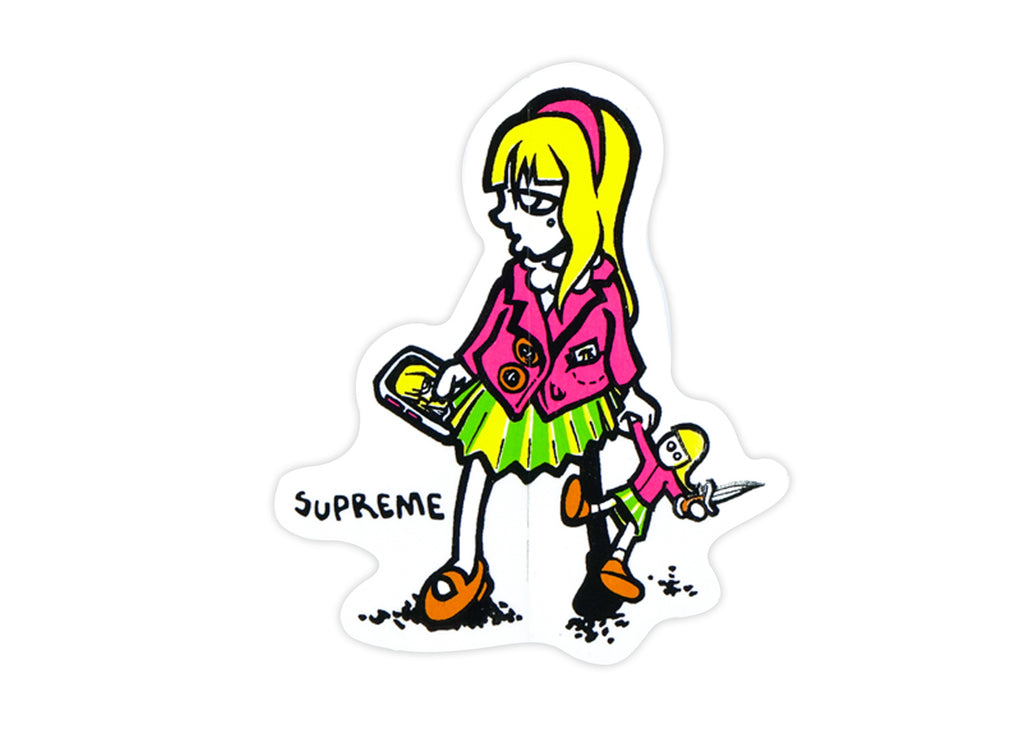 supreme girl doll sticker