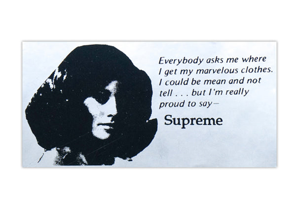 supreme marvelous clothes sticker