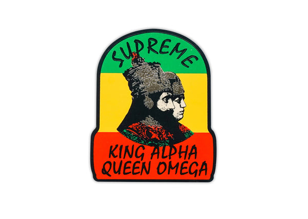 supreme king alpha sticker