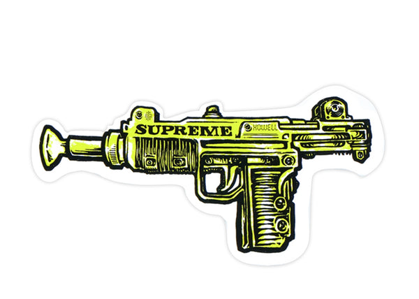 supreme uzi yellow sticker
