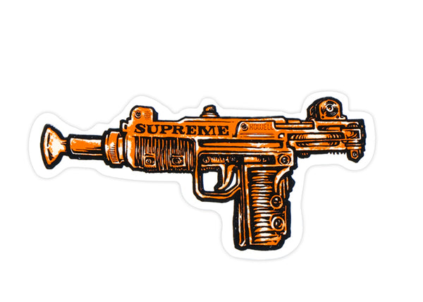 supreme uzi orange sticker
