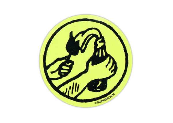 supreme round molotov yellow sticker