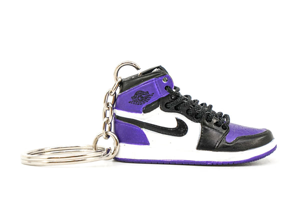 jordan 1 court purple keychain