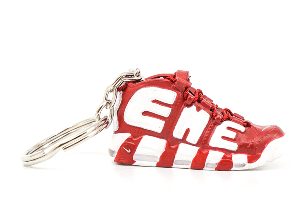 supreme uptempo red keychain
