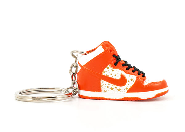 supreme dunk high orange keychain