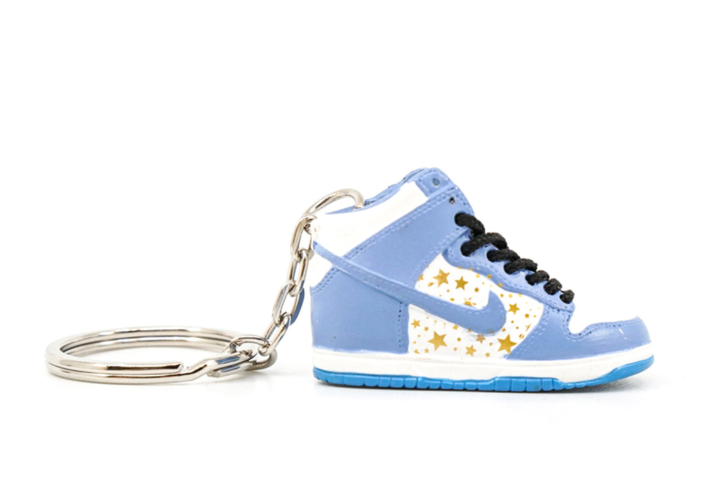 supreme dunk blue keychain