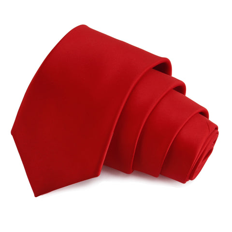 Classy Crimson Red Colored Microfiber Necktie for Men | Genuine Branded Product from Peluche.in