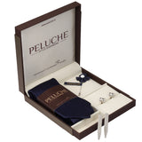Chic Gift Box Includes 1 Neck Tie, 1 Brooch, 1 Pair of Cufflinks and 1 Pair of Collar Stays for Men | Genuine Branded Product from Peluche.in