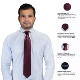 Classy Maroon Colored Microfiber Necktie for Men