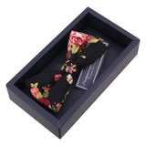 The Statesman - Floral Black Bow Tie