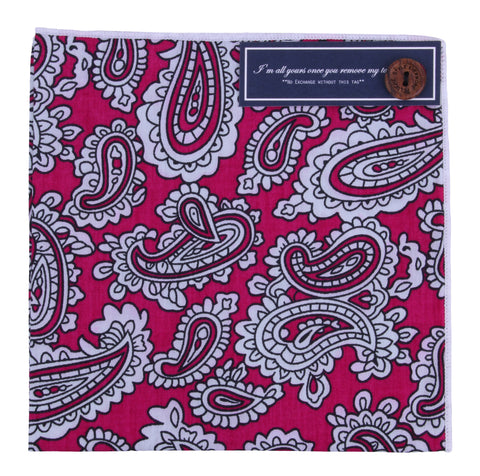 Peluche Decorated Iceberg Tip - Pocket Square Cotton