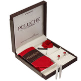 Dapper Gift Box Includes 1 Neck Tie, 1 Brooch, 1 Pair of Cufflinks and 1 Pair of Collar Stays for Men | Genuine Branded Product from Peluche.in